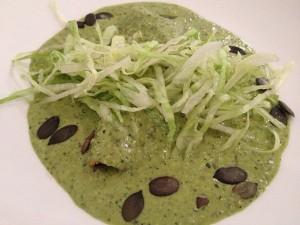 Enchiladas de carnitas with salsa verde