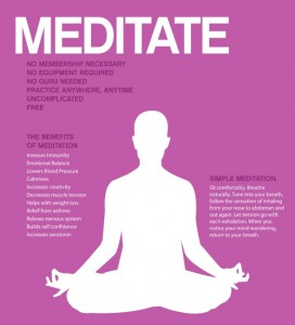 meditate poster